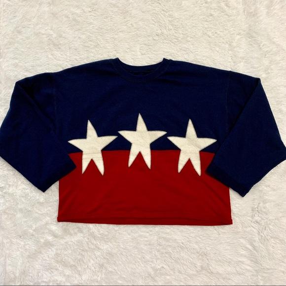 1259b1db2cbf Hanes Tops | Red White Blue Star Crewneck Sweatshirt | Poshmark